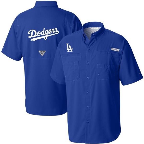 コロンビア メンズ シャツ トップス Los Angeles Dodgers Columbia Tamiami Omni-Shade Button-Down Shirt Royal