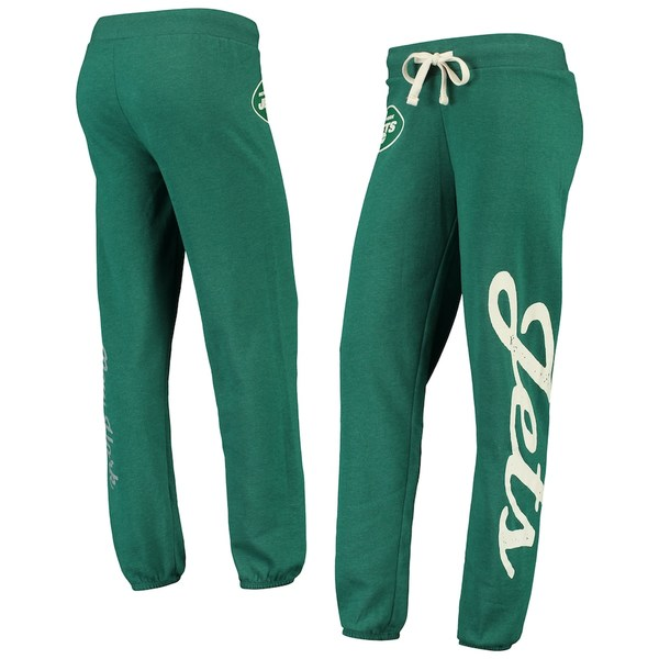 カールバンクス レディース カジュアルパンツ ボトムス New York Jets G-III 4Her by Carl Banks Women's Team Scrimmage Fleece Pants Heathered Green