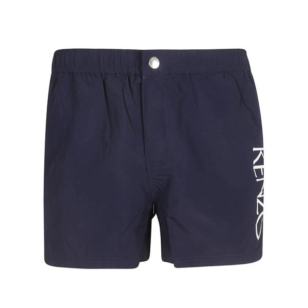 ケンゾー メンズ カジュアルパンツ ボトムス Kenzo Logo Swim Shorts blue