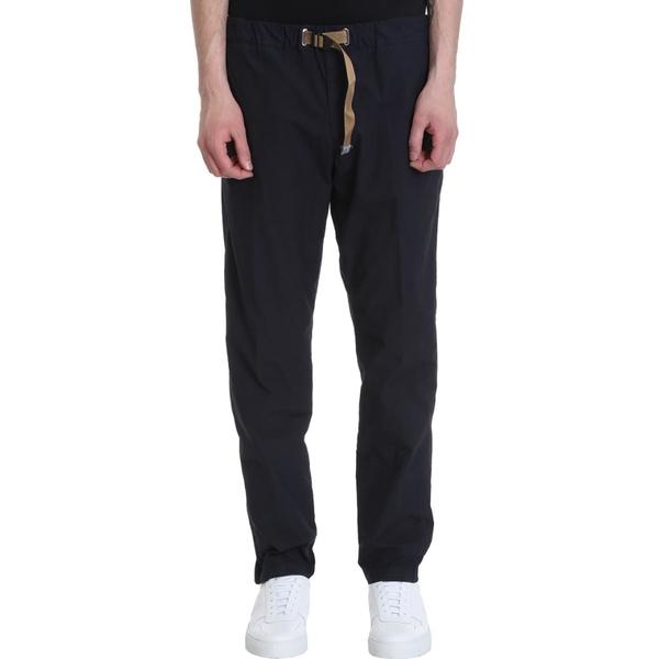 ホワイトサンド メンズ カジュアルパンツ ボトムス White Sand Blue Cotton Trousers blue