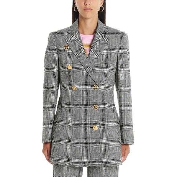 ヴェルサーチ レディース ジャケット&ブルゾン アウター Versace Jacket Grey