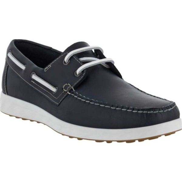 エコー メンズ シューズ 大決算セール デッキシューズ Navy Full Grain 全商品無料サイズ交換 Men's S Shoe Lite Leather Boat 超激得SALE