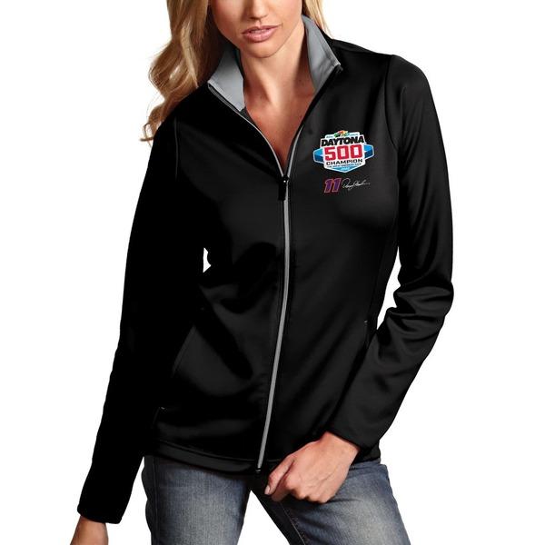 アンティグア レディース ジャケット&ブルゾン アウター Denny Hamlin Antigua Women's 2020 Daytona 500 Champion Leader FullZip Jacket Black