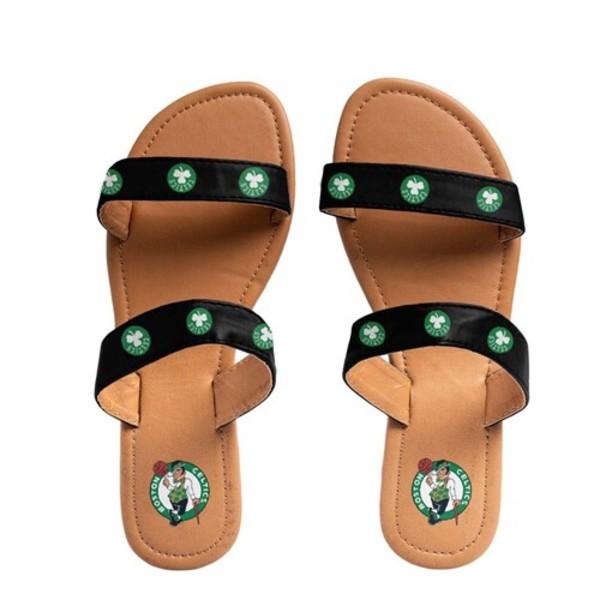 フォコ レディース サンダル シューズ Boston Celtics Women's Double Strap Sandals