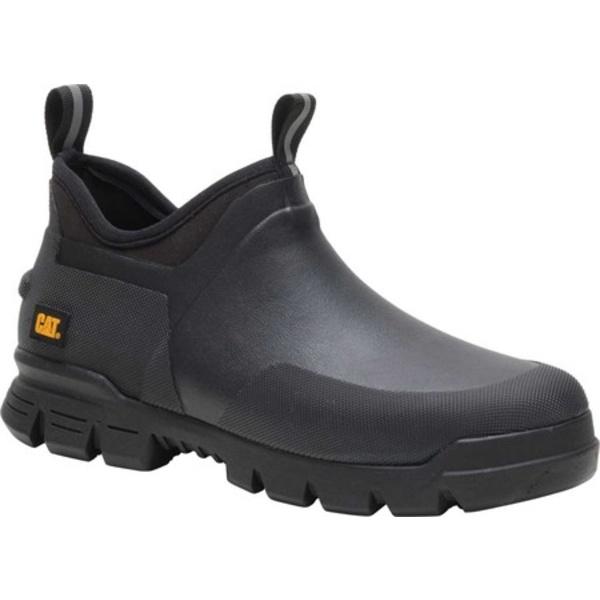 キャタピラー レディース ブーツ&レインブーツ シューズ Stormers Waterproof Work Shoe Black/Black Waterproof Vulcanized Rubber