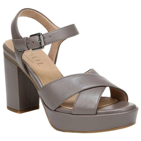 ソウルニュトライザー レディース サンダル シューズ Aries Platform Sandal Grey Smooth Polyurethane