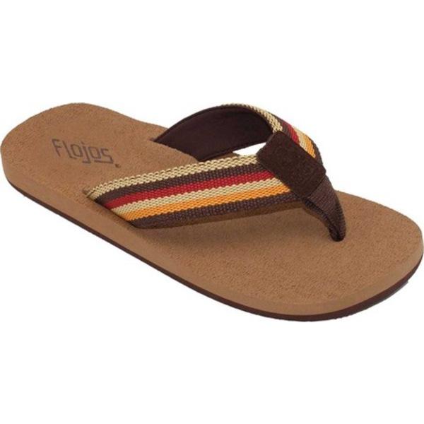 フロホース メンズ サンダル シューズ Loomis Thong Sandal Tan Multi Textile Webbing