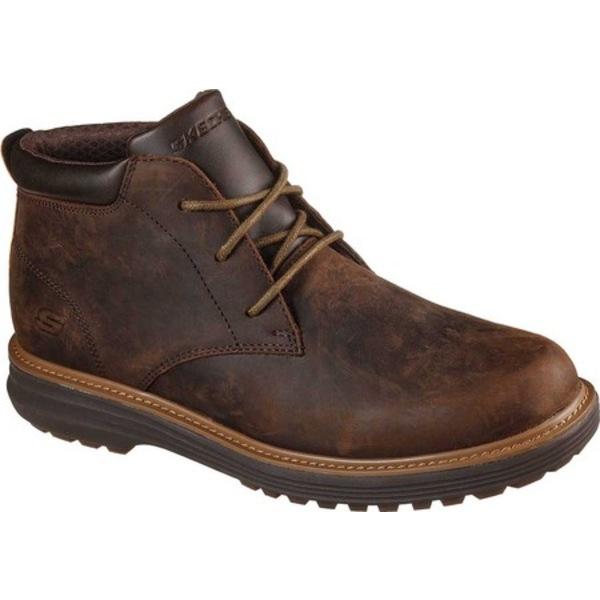 スケッチャーズ メンズ ブーツ&レインブーツ シューズ Wenson Osteno Chukka Boot Chocolate