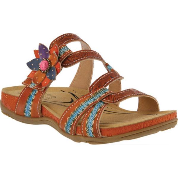 スプリングステップ レディース サンダル シューズ Mabel Slide Camel Multi Leather