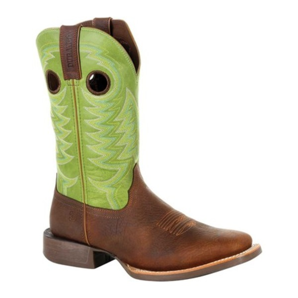 ヂュランゴ メンズ ブーツ&レインブーツ シューズ DDB0228 Maverick XP Ventilated Western Work Boot Frontier Brown/Lime Full Grain Leather