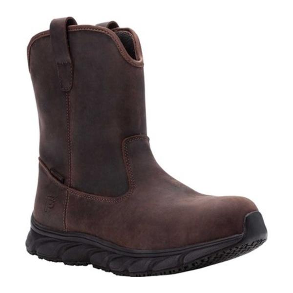 プロペット メンズ ブーツ&レインブーツ シューズ Smith Composite Toe Boot Brown Crazy Horse Leather