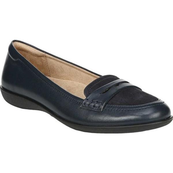 ナチュライザー レディース サンダル シューズ Finley Flat Penny Loafer Navy Leather/Suede