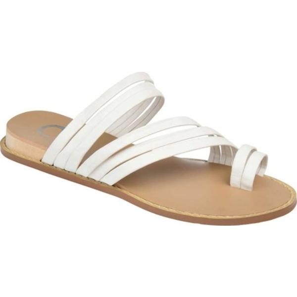 ジャーニーコレクション レディース サンダル シューズ Consuelo Toe Loop Sandal White Faux Leather