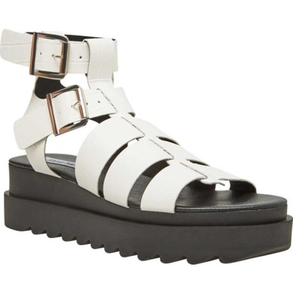 スティーブ マデン レディース サンダル シューズ Zeeta Gladiator Sandal White Croco Synthetic