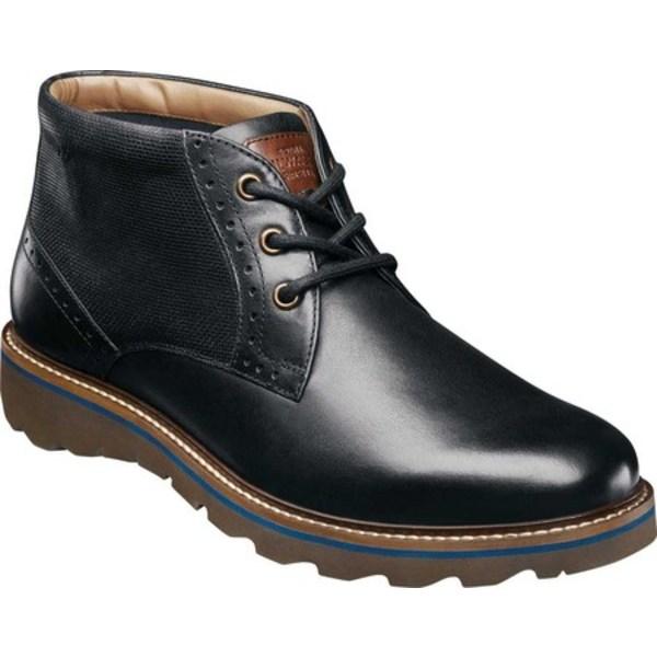 ノンブッシュ メンズ ブーツ&レインブーツ シューズ Buchanan Plain Toe Chukka Boot Black Leather
