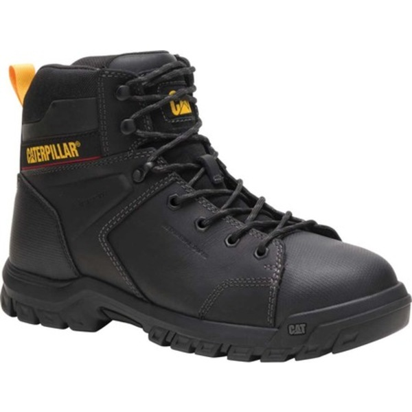 キャタピラー メンズ ブーツ&レインブーツ シューズ Wellspring Waterproof Steel Toe Work Boot Black Waterproof Full Grain Leather