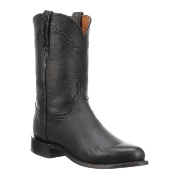 ルケーシー メンズ ブーツ&レインブーツ シューズ M1010.C2 Round Roper Toe 2 Heel Black Lonestar Calf