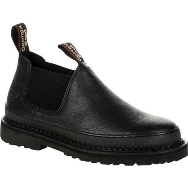 ジョージブーツ メンズ ブーツ&レインブーツ シューズ GB00384 Georgia Giant Revamp Romeo Work Shoe Black Full Grain Leather