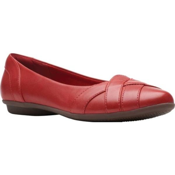 クラークス レディース サンダル シューズ Gracelin Mia Flat Red Full Grain Leather