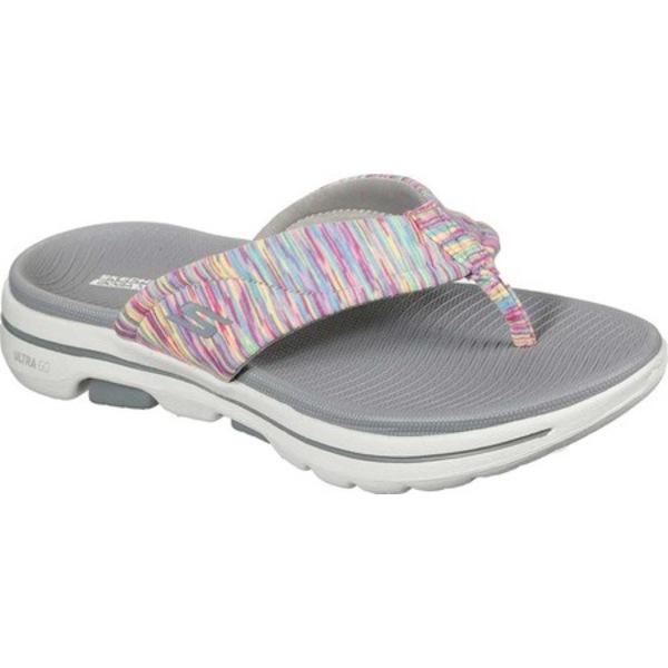 スケッチャーズ レディース サンダル シューズ GOwalk 5 Destined Flip Flop Gray/Multi