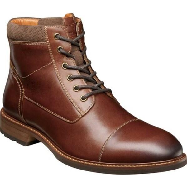 フローシャイム メンズ ブーツ&レインブーツ シューズ Lodge Cap Toe Lace Up Ankle Boot Chestnut Smooth Leather