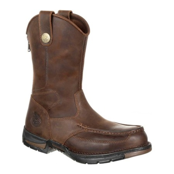 ジョージブーツ メンズ ブーツ&レインブーツ シューズ GB00246 Athens Pull-On Steel Toe Work Boot Dark Brown Full Grain Leather