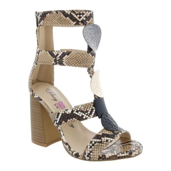 ペニーラブスケニー レディース サンダル シューズ Tymber Heeled Gladiator Sandal Natural/Black Snake Print Polyurethane