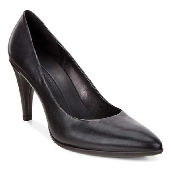 エコー レディース スニーカー シューズ Shape 75 Pointy Pump Black Calf Leather