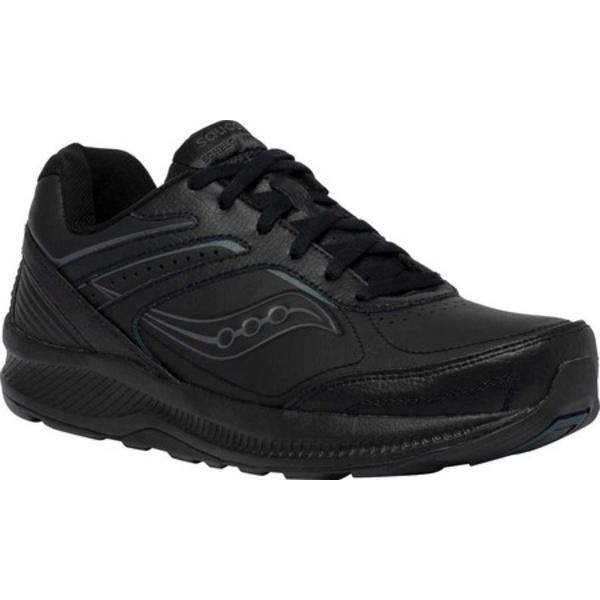 サッカニー レディース スニーカー シューズ Echelon Walker 3 Running Sneaker Black
