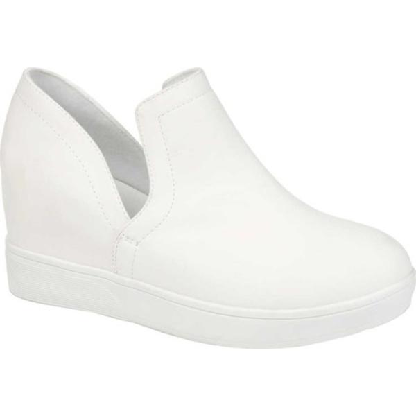 ジャーニーコレクション レディース スニーカー シューズ Cardi Slip On Sneaker White Faux Leather