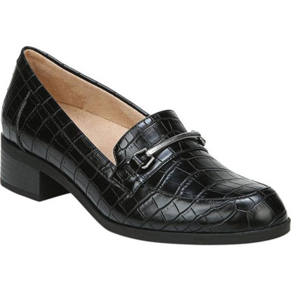 ソウルニュトライザー レディース スリッポン・ローファー シューズ Firstly Ornamented Loafer Black Croco Smooth Polyurethane