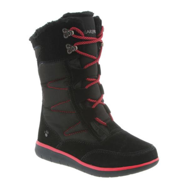 ベアパウ レディース スニーカー シューズ Aretha Mid-Calf Lace-Up Boot Black II Suede/Nylon