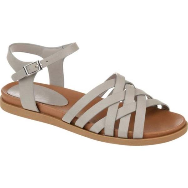 ジャーニーコレクション レディース サンダル シューズ Kimmie Strappy Sandal Grey Faux Leather