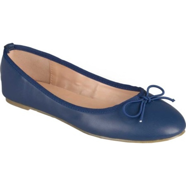 ジャーニーコレクション レディース サンダル シューズ Vika2 Ballet Flat Navy Faux Leather