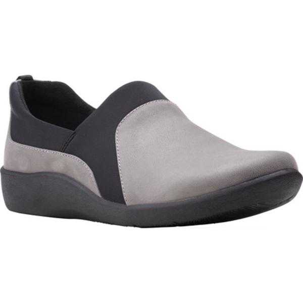 クラークス レディース スニーカー シューズ Sillian Bliss Slip On Sneaker Grey Synthetic