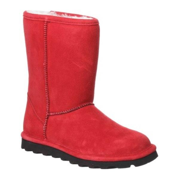 ベアパウ レディース スニーカー シューズ Elle Short Boot Santa Red Suede