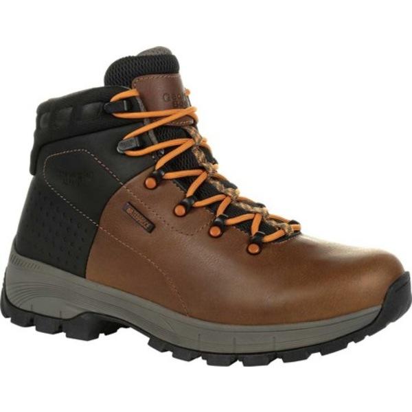 ジョージブーツ メンズ ブーツ&レインブーツ シューズ GB00402 Eagle Trail Waterproof Hiker Work Boot Brown Full Grain Leather