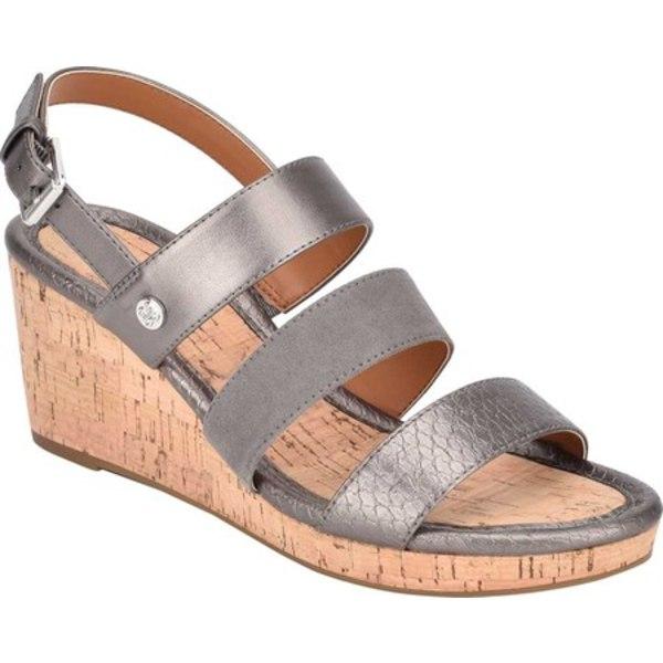バンドリーノ レディース サンダル シューズ Talene Strappy Wedge Sandal Pewter Textile/Faux Leather