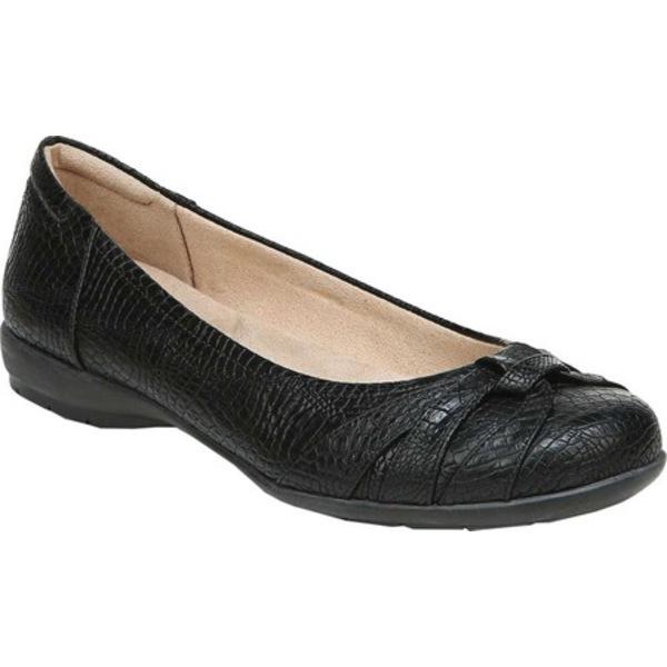 ソウルニュトライザー レディース サンダル シューズ Gift Ballet Flat Black Croco Smooth Synthetic Leather