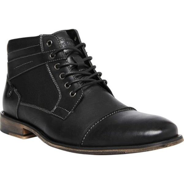 スティーブ マデン メンズ ブーツ&レインブーツ シューズ Jotter Cap Toe Ankle Boot Black Nubuck