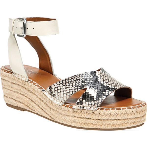 フランコサルト レディース サンダル シューズ Pellia2 Ankle Strap Espadrille Wedge Sandal Natural Snakeskin Leather/Synthetic Leather