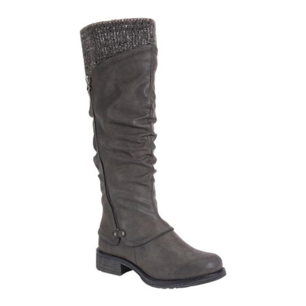 ムクルクス レディース ブーツ&レインブーツ シューズ Bianca Slouch Boot Grey Polyurethane