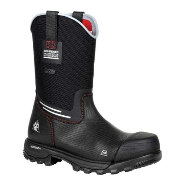 ロッキー メンズ ブーツ&レインブーツ シューズ XO-Toe CT Waterproof Pull On Work Boot RKK0313 Black Leather/Nylon