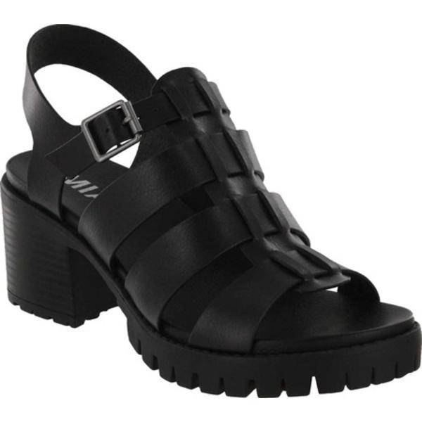 ミア レディース サンダル シューズ Lula Gladiator Heeled Sandal Black Vegan Leather