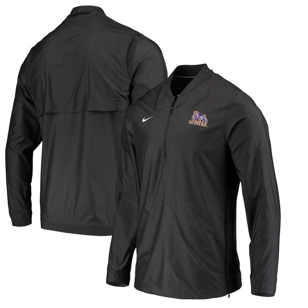 ナイキ メンズ ジャケット&ブルゾン アウター James Madison Dukes Nike Lockdown Quarter-Zip Pullover Jacket Anthracite