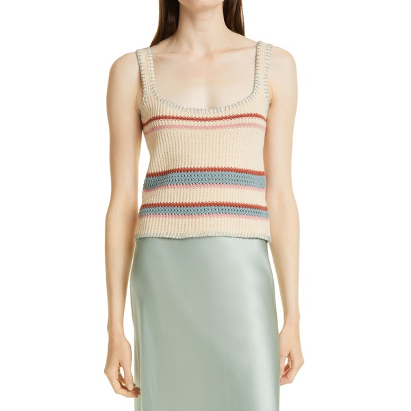 レイルズ レディース トップス カットソー Cream Rainbow Multi 全商品無料サイズ交換 レイルズ レディース カットソー トップス Sienna Stripe Knit Tank Top Cream Rainbow Multi