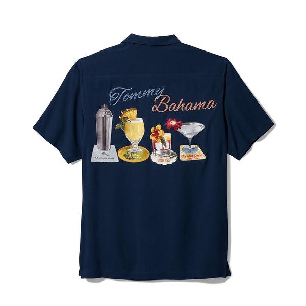【国内正規総代理店アイテム】 トッミーバハマ メンズ シャツ トップス Men&39;s Marlin Bar Silk Shirt Ocean Deep, 激安エスニックファッションGADO aee133d9