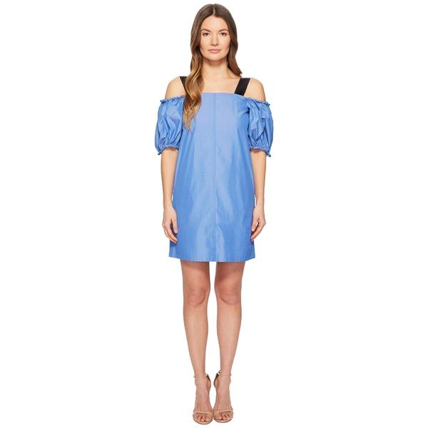 スポーツマックス レディース ワンピース トップス Cina Cold Shoulder Puff Short Sleeve Dress Light Blue