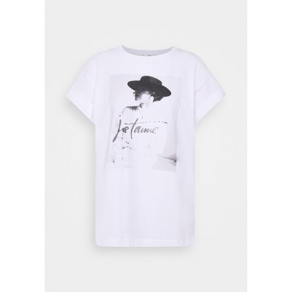 リッチ アンド ロイヤル レディース トップス Tシャツ 卸直営 激安超特価 white 全商品無料サイズ交換 T'AIME WITH PRINT T-shirt Print - JE rsht017a