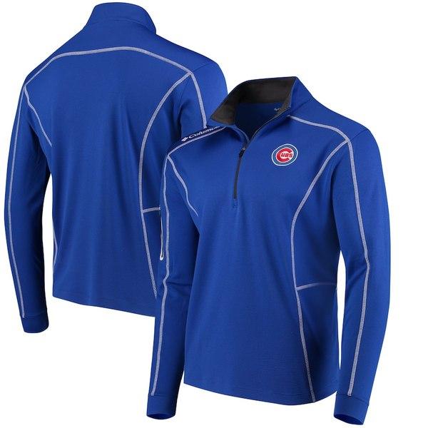 コロンビア メンズ ジャケット&ブルゾン アウター Chicago Cubs Columbia Shotgun Quarter-Zip Pullover Jacket Royal